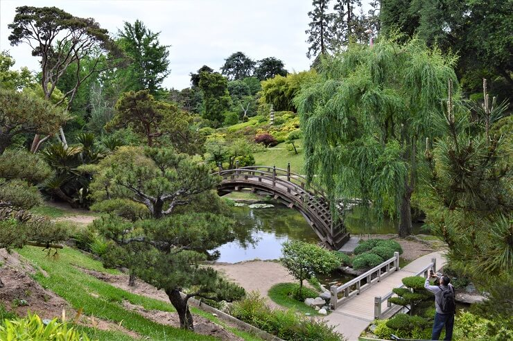 Мост в ботаническом саду Хантингтона