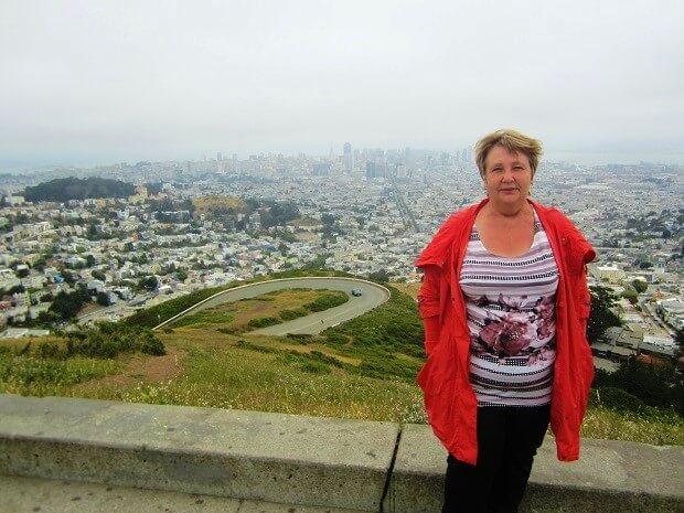 Я на Твин Пикс в Сан-Франциско
