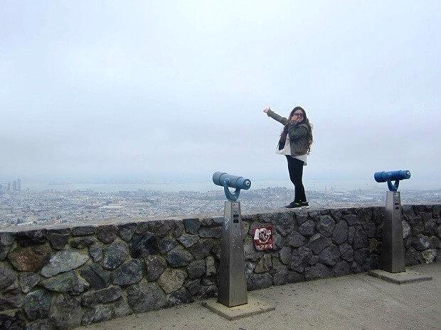 Сан-Франциско с холма Твин Пикс