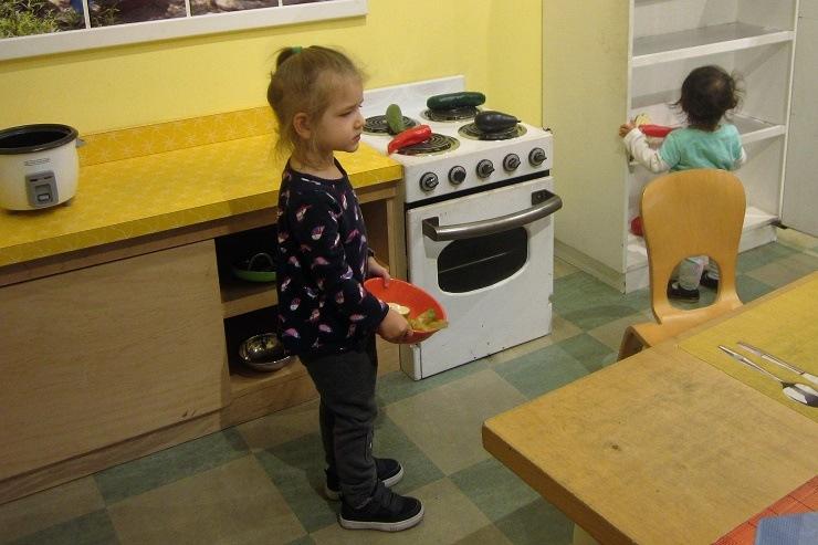 Детский музей в Сан-Хосе. Приготовление еды