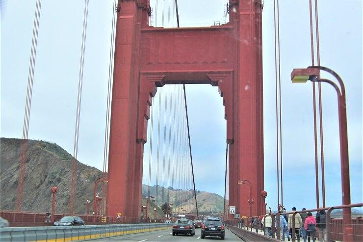 Международный оранжевый цвет моста Золотые Ворота