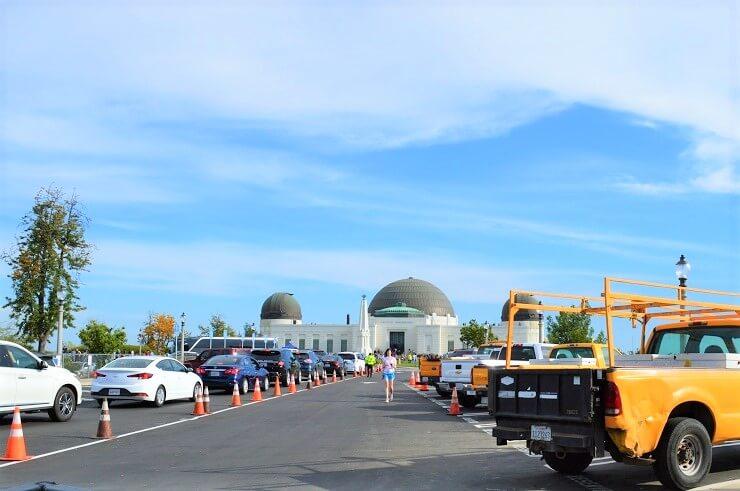 Парковка для служащих обсерватории