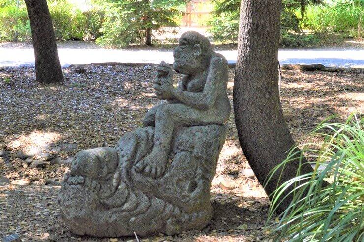 Сад скульптур Новой Гвинеи. Скульптура из пемзы