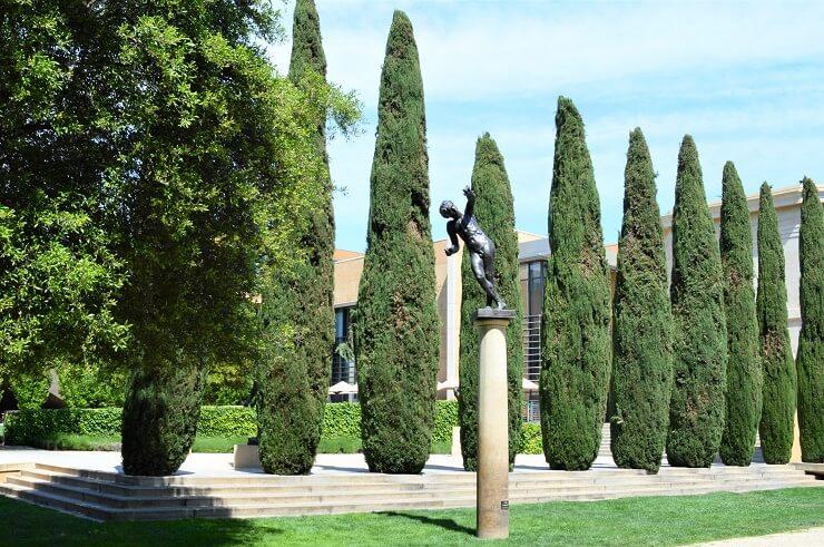 Кипарисы в Саду скульптур Родена