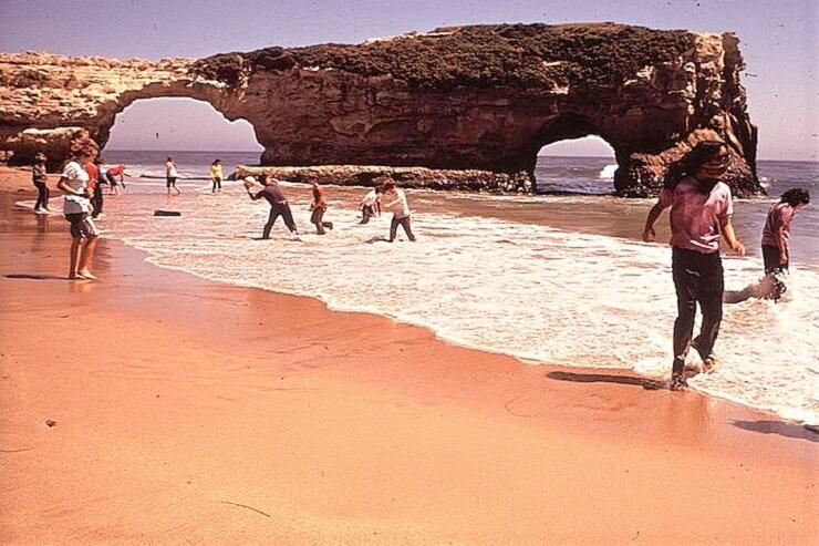Мост на пляже Естественные мосты в 1970 году