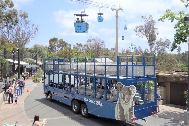 Фаникулер в зоопарке в Сан-Диего