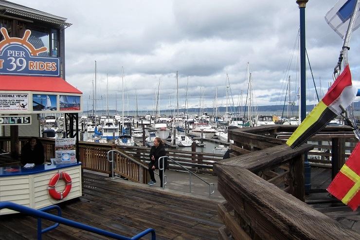 Яхты на Пирсе 39 в Сан-Франциско
